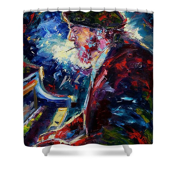 Night Tripper Shower Curtain by Debra Hurd