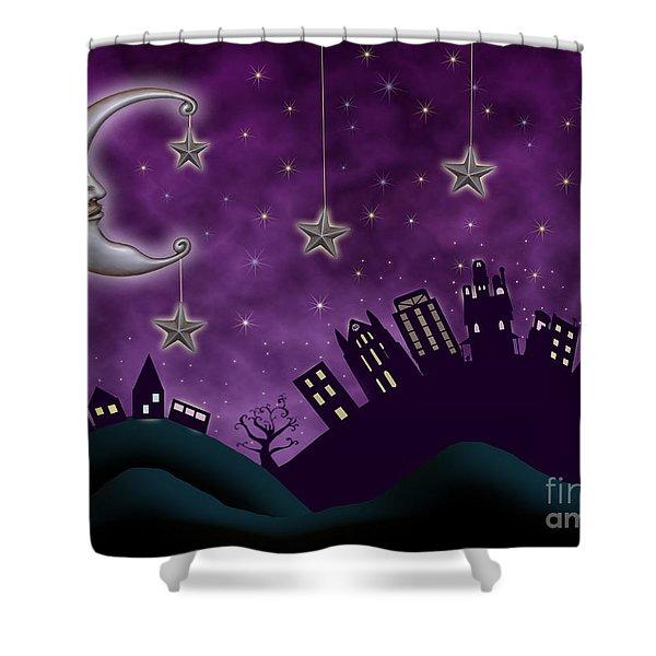 Nighty Night Shower Curtain by Juli Scalzi