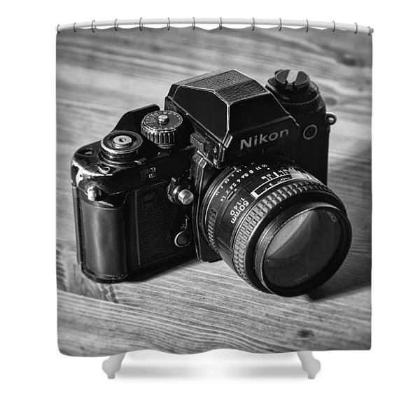 Nikon f3 Shower Curtain by Taylan Soyturk