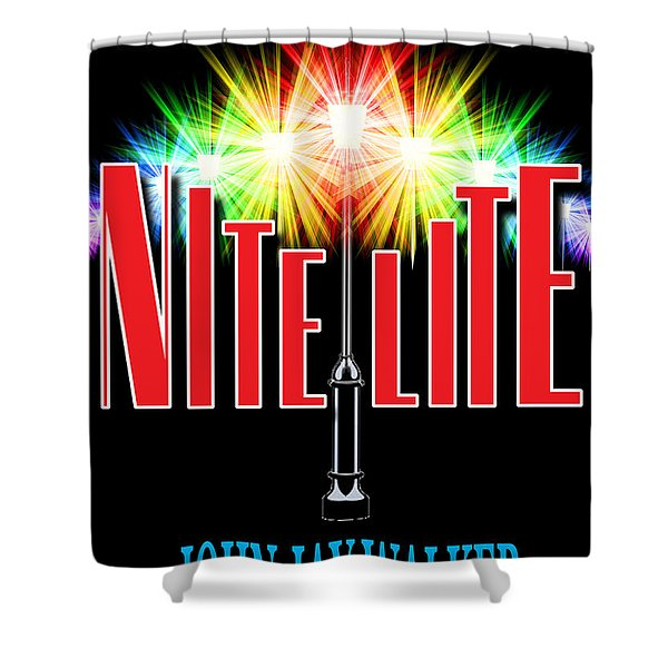 Nite Lite Book Cover Shower Curtain by Mike Nellums