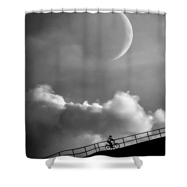 No Turning Back Shower Curtain by Bob Orsillo