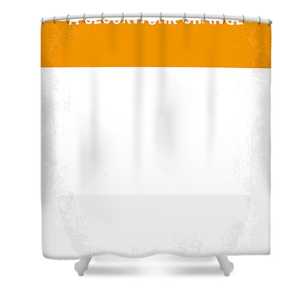 No002 My A Clockwork Orange minimal movie poster Shower Curtain by Chungkong Art
