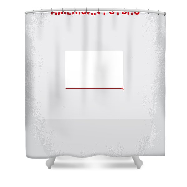 No005 My American Psyhco minimal movie poster Shower Curtain by Chungkong Art