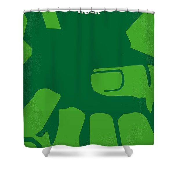 No040 My Hulk Minimal Movie Poster Shower Curtain by Chungkong Art