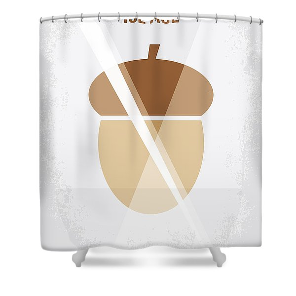 No041 My Ice Age minimal movie poster Shower Curtain by Chungkong Art
