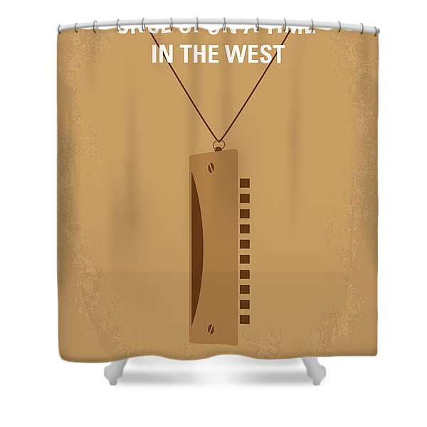 No059 My once upon a time in the west minimal movie poster Shower Curtain by Chungkong Art