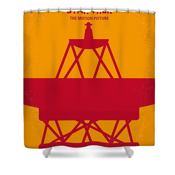 No081 My Star Trek 1 minimal movie poster Shower Curtain by Chungkong Art