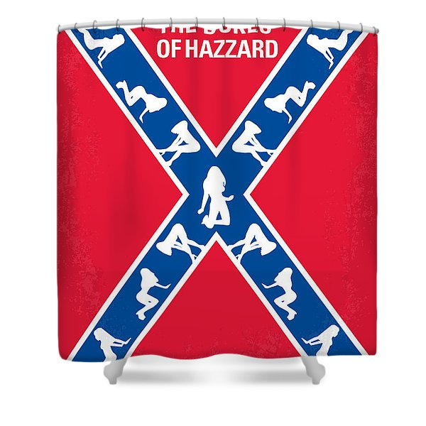 No108 My The Dukes of Hazzard movie poster Shower Curtain by Chungkong Art