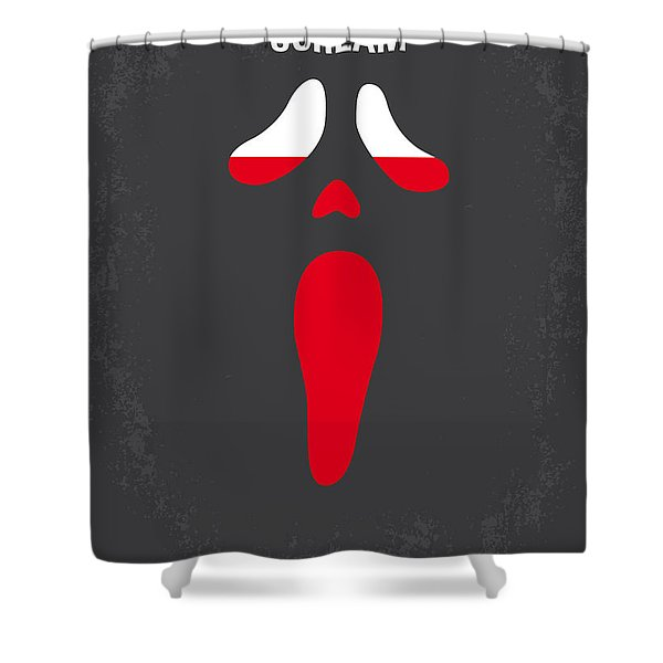 No121 My SCREAM minimal movie poster Shower Curtain by Chungkong Art
