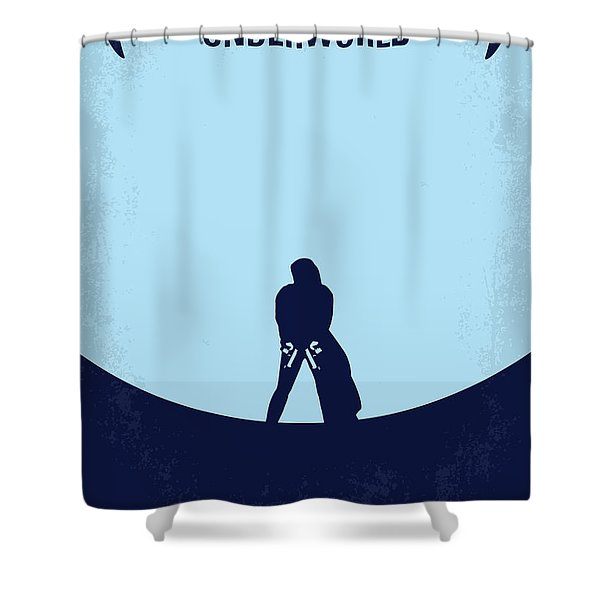 No122 My UNDERWORLD minimal movie Shower Curtain by Chungkong Art