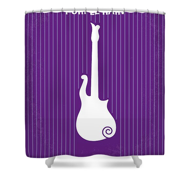 No124 My PURPLE RAIN minimal movie poster Shower Curtain by Chungkong Art