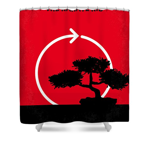No125 My KARATE KID minimal movie poster Shower Curtain by Chungkong Art