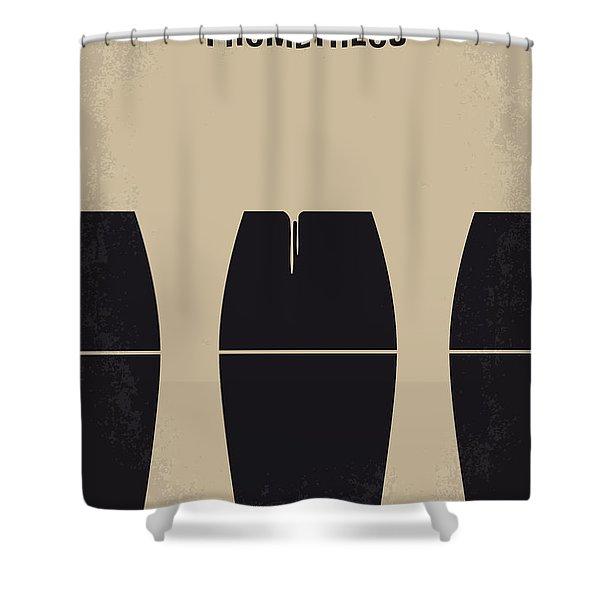No157 My Prometheus Minimal Movie Poster Shower Curtain by Chungkong Art
