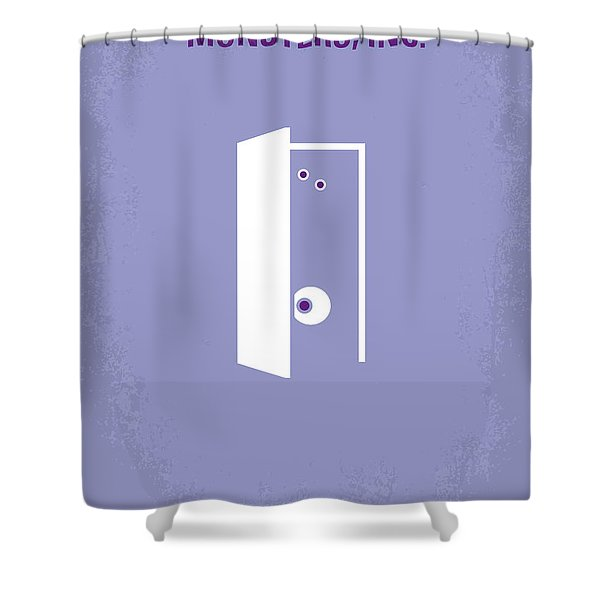 No161 My Monster Inc minimal movie poster Shower Curtain by Chungkong Art