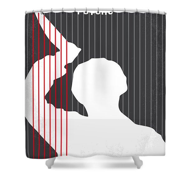 No185 My Psycho minimal movie poster Shower Curtain by Chungkong Art