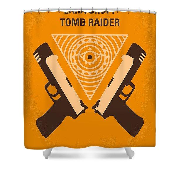 No209 Lara Croft Tomb Raider minimal movie poster Shower Curtain by Chungkong Art