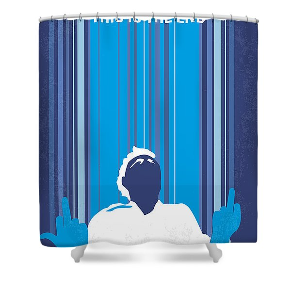 No220 My This Is The End Minimal Movie Poster Shower Curtain by Chungkong Art