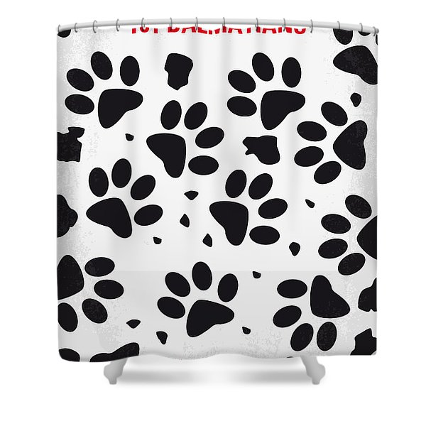 No229 My 101 Dalmatians minimal movie poster Shower Curtain by Chungkong Art