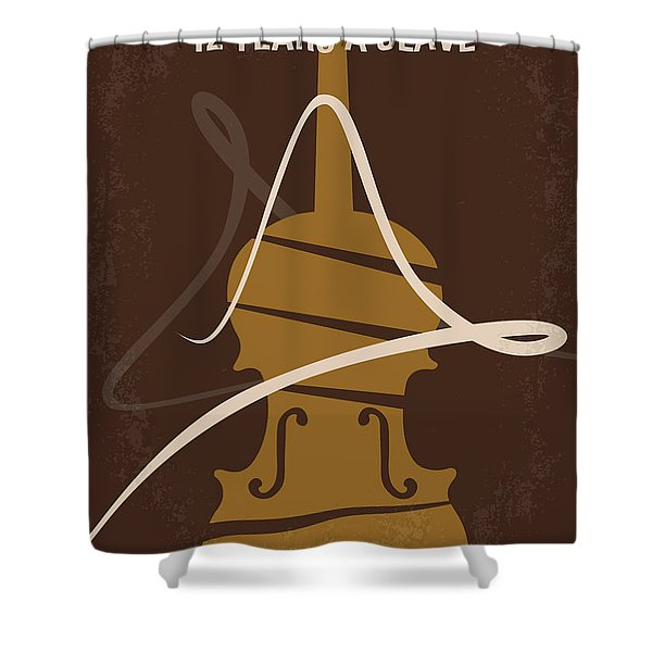 No268 My 12 years a slave minimal movie poster Shower Curtain by Chungkong Art