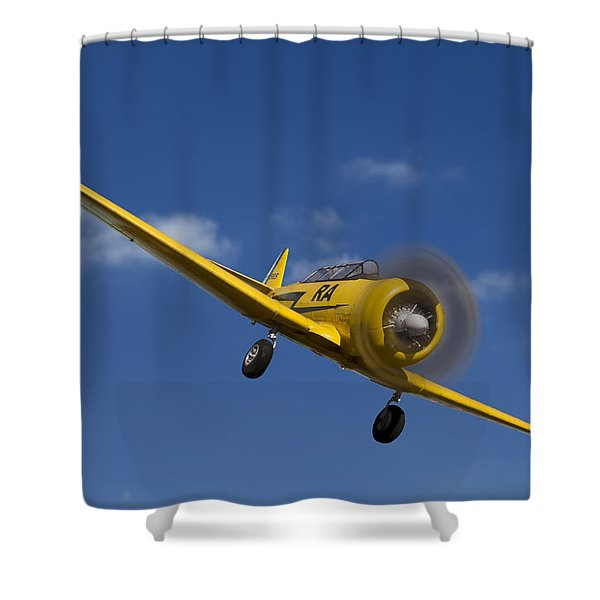 North American T6 Shower Curtain by Debra and Dave Vanderlaan