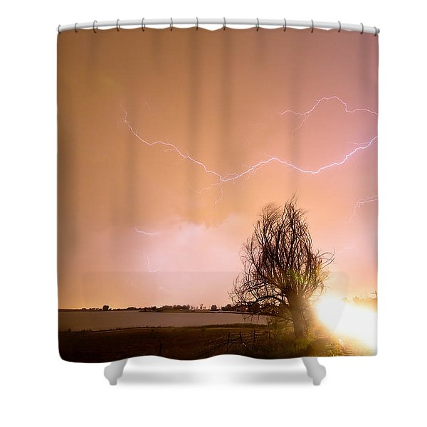 North Boulder County Colorado Lightning Strike Shower Curtain by James BO  Insogna
