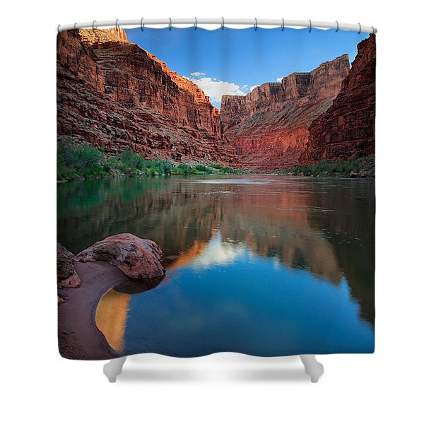 North Canyon Number 1 Shower Curtain by Inge Johnsson