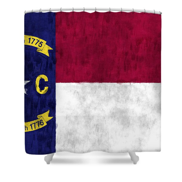 North Carolina Flag Shower Curtain by World Art Prints And Designs