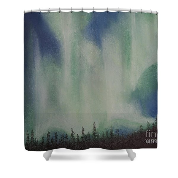 Northern Angel Bird Shower Curtain by Stanza Widen