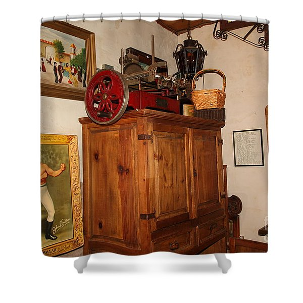 Nostalgic Corner In The Cellar Room At the Swiss Hotel In Sonoma California 5D24442 Shower Curtain by Wingsdomain Art and Photography