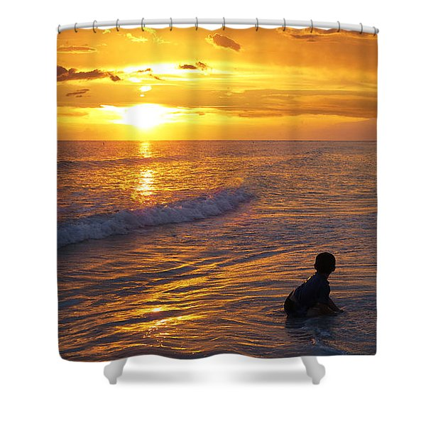 Not Yet - Sunset Art By Sharon Cummings Shower Curtain by Sharon Cummings