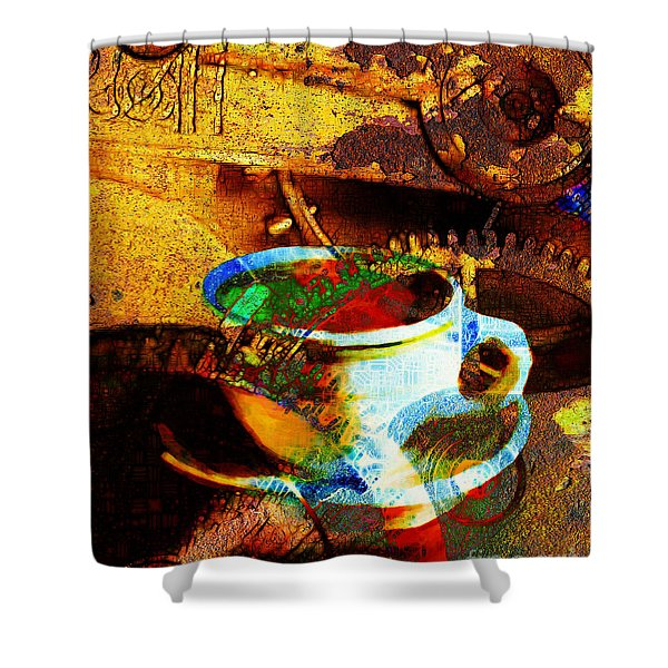 Nothing Like A Hot Cuppa Joe In The Morning To Get The Old Wheels Turning 20130718 Shower Curtain by Wingsdomain Art and Photography