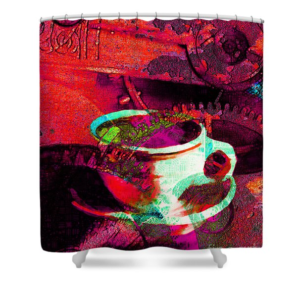 Nothing Like A Hot Cuppa Joe In The Morning To Get The Old Wheels Turning 20130718m43 Shower Curtain by Wingsdomain Art and Photography