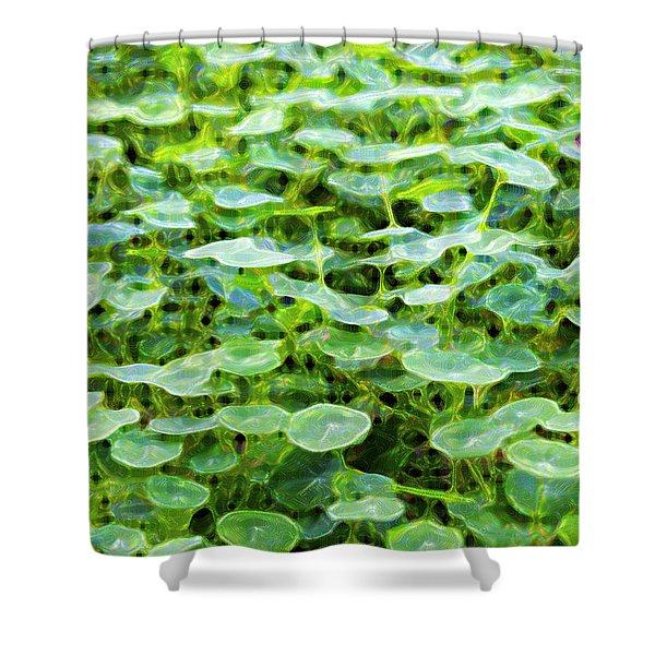 Nuanced Nasturtium Shower Curtain by Joe Schofield