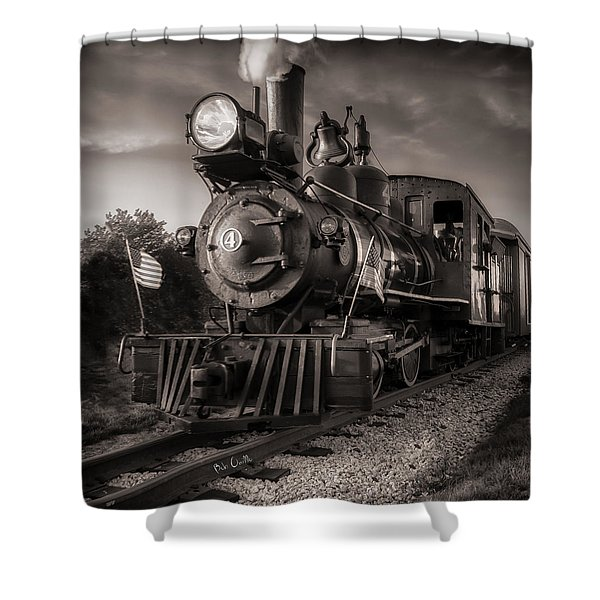 Number 4 Narrow Gauge Railroad Shower Curtain by Bob Orsillo