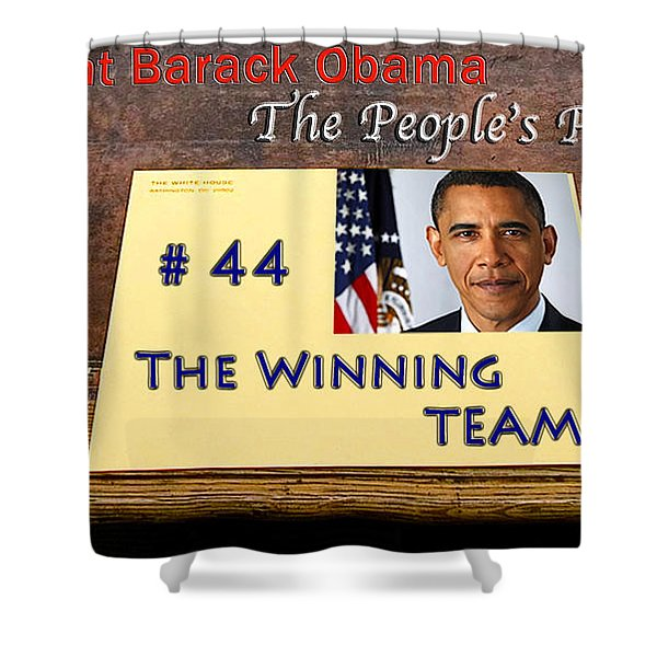 Number 44 - The Winning Team Shower Curtain by Terry Wallace