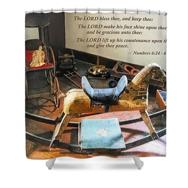 Numbers 6 24-26 The Lord Bless Thee And Keep Thee Shower Curtain by Susan Savad
