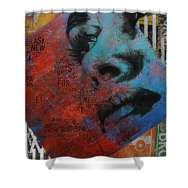 Ny City Collage - 8 Shower Curtain by Corporate Art Task Force