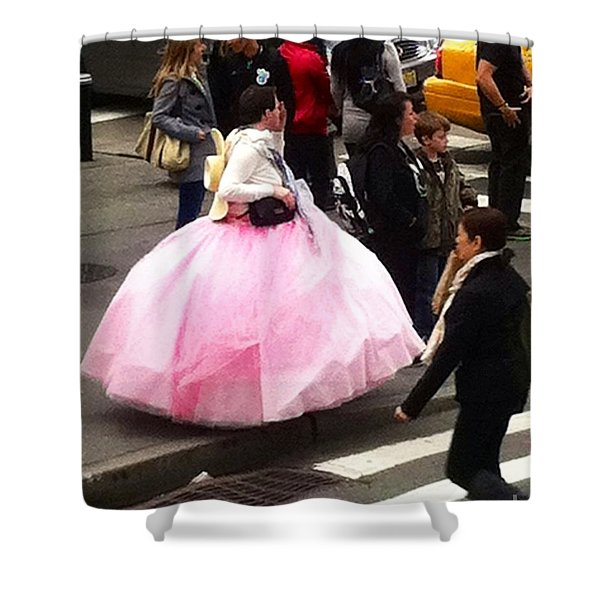 NYC Ball Gown Walk Shower Curtain by Susan Garren