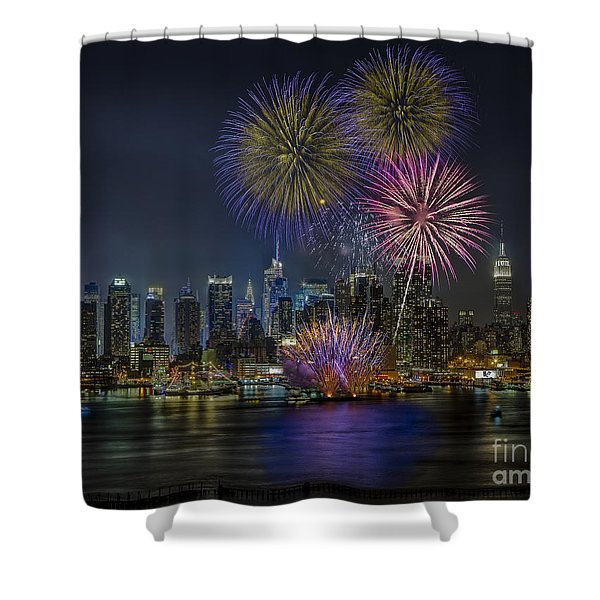 NYC Celebrates Fleet Week Shower Curtain by Susan Candelario
