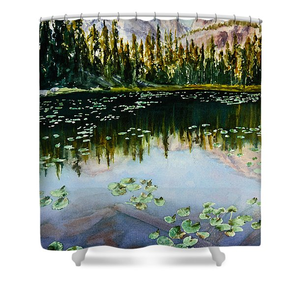 Nymph Lake Shower Curtain by Mary Benke