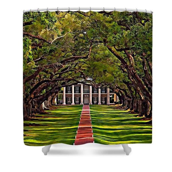 Oak Alley II Shower Curtain by Steve Harrington