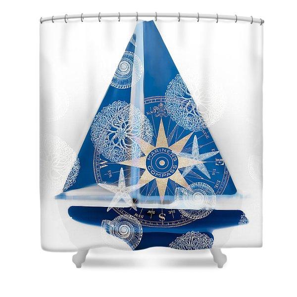 Ocean Blue Shower Curtain by Frank Tschakert