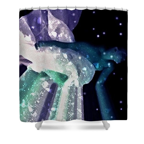Ocean Of Emptiness Shower Curtain by Jessica Shelton