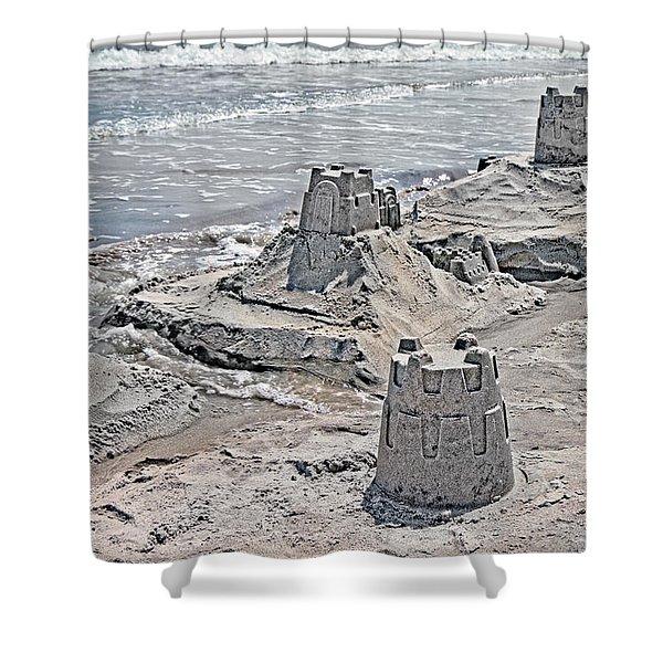Ocean Sandcastles Shower Curtain by Betsy C  Knapp
