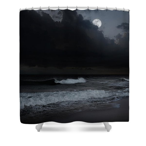Ocean Storm Shower Curtain by Bill  Wakeley