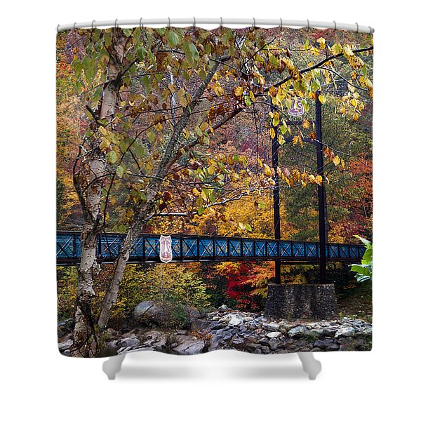 Ocoee River Bridge Shower Curtain by Debra and Dave Vanderlaan