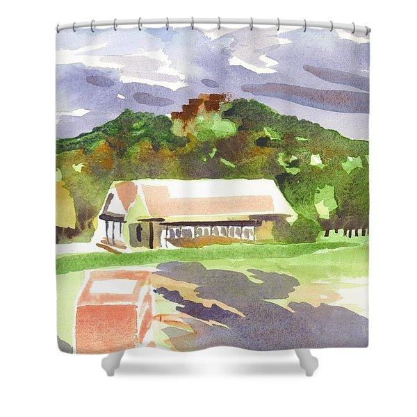 October Shadows at Fort Davidson Shower Curtain by Kip DeVore