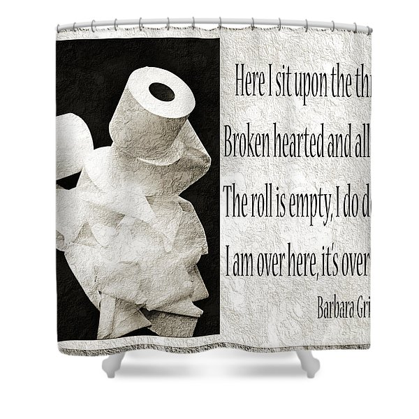 Ode To The Spare Roll Bw 2 Shower Curtain by Andee Design