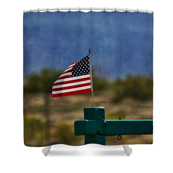 Oh Say Can You See Shower Curtain by Janice Rae Pariza