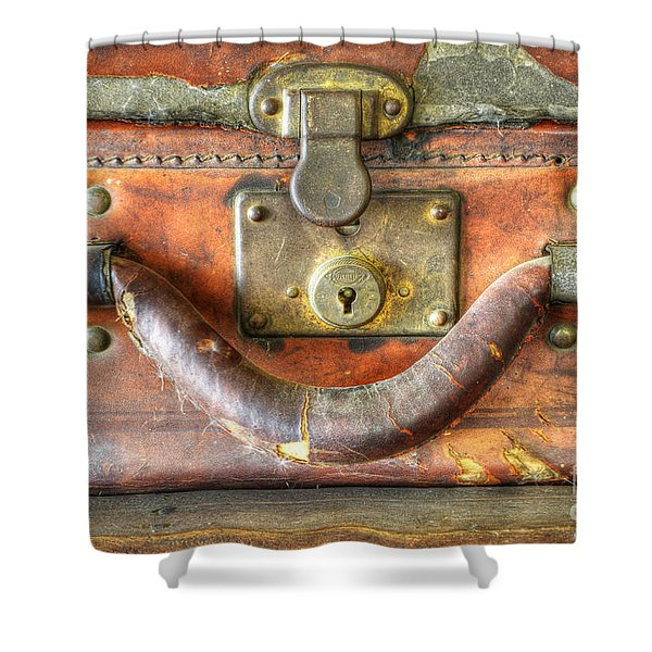 Old Baggage Shower Curtain by Bob Christopher